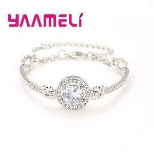 Luxury bracelet CZ stone S90 filled